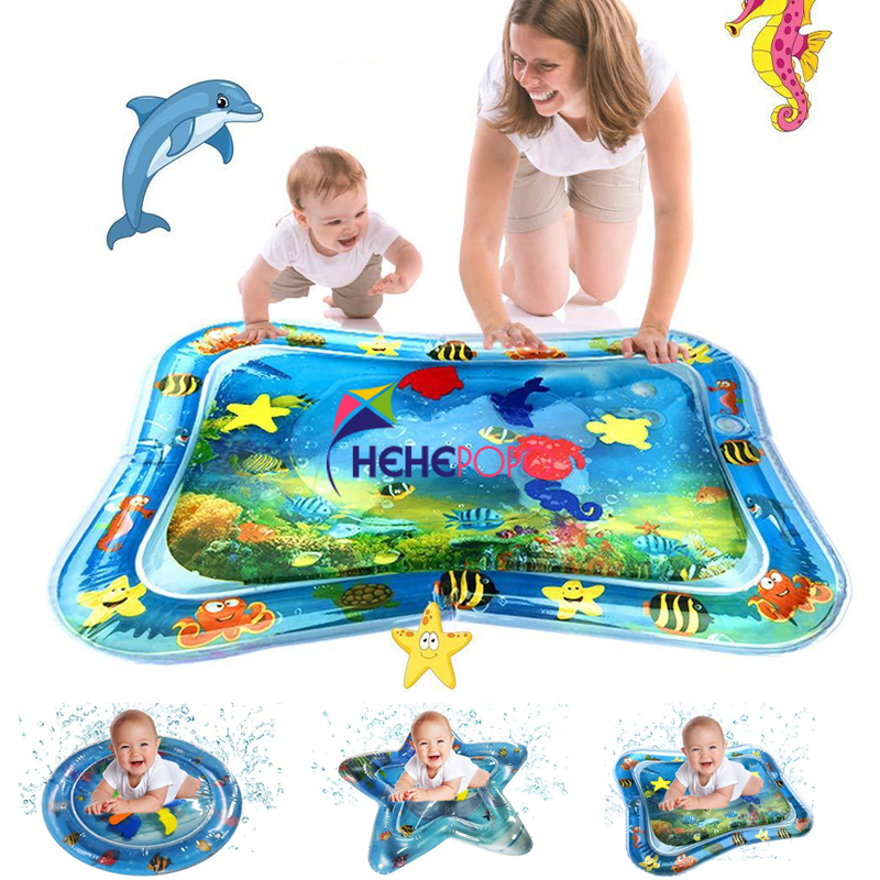 3 Shapes Creative Dual Use Toys Baby Inflatable Patted Pad Baby Inflatable Water Cushion - Prostrate Water Cushion Pat Pad