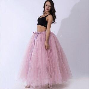 Image 5 - Модная Тюлевая юбка пачка ручной работы, Юбки для беременных, реквизит для фотосъемки, длинная бальная юбка пачка, юбка