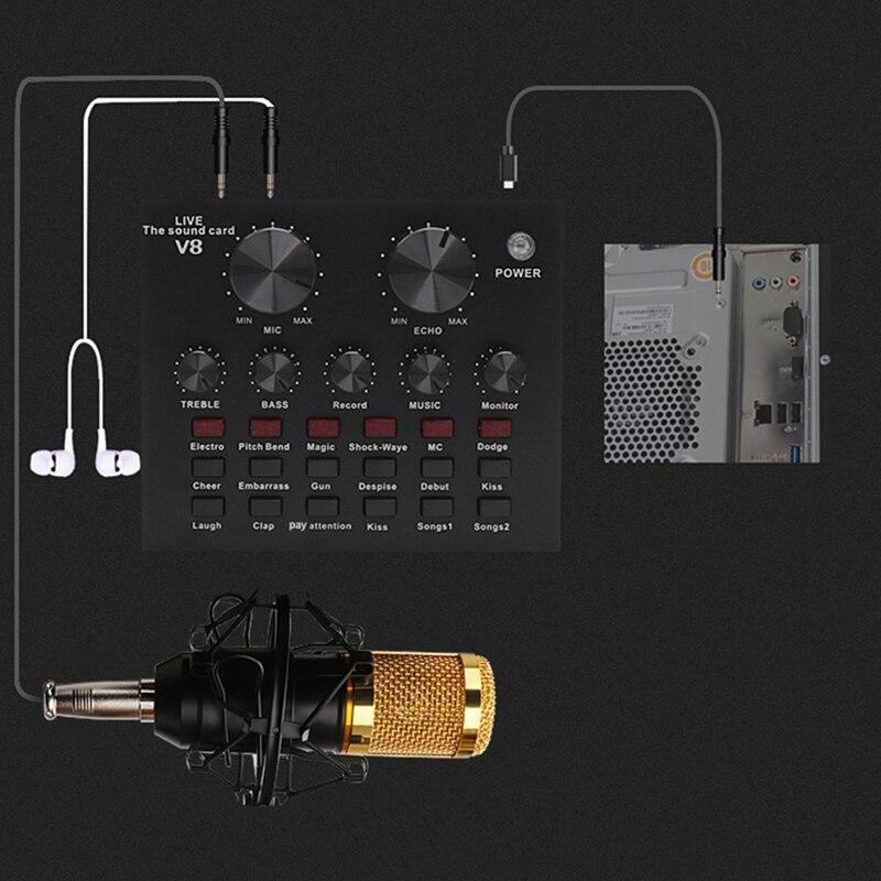 V8 conjunto de placa de som, interface
