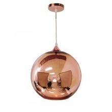 Luminária suspensa com espelho e bola de vidro, pingente iluminado