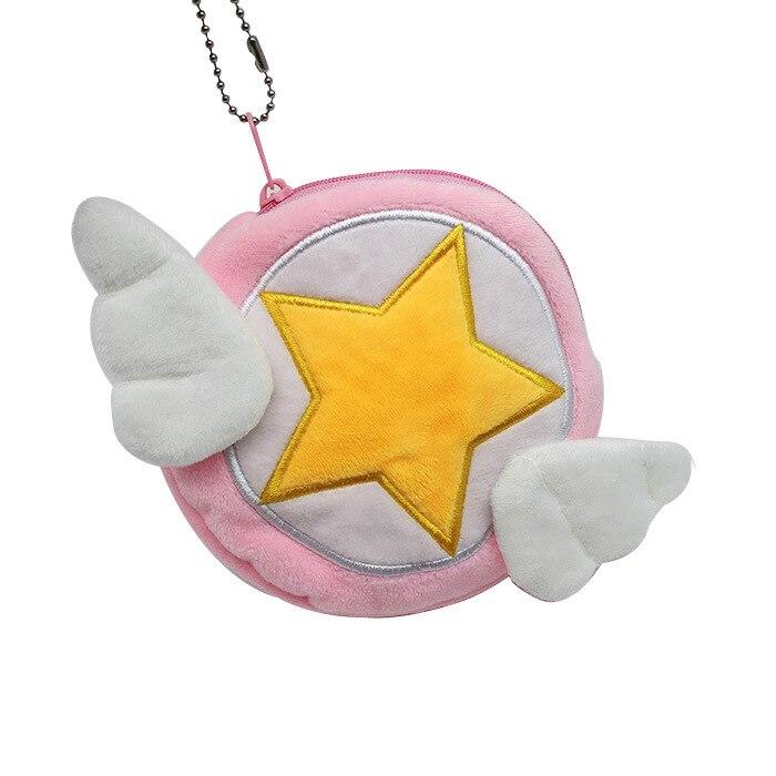Magical Girl Cardcaptor Sakura Magic Staffs Star Rod Plush Coin Purse Coin Bag Mini Purse