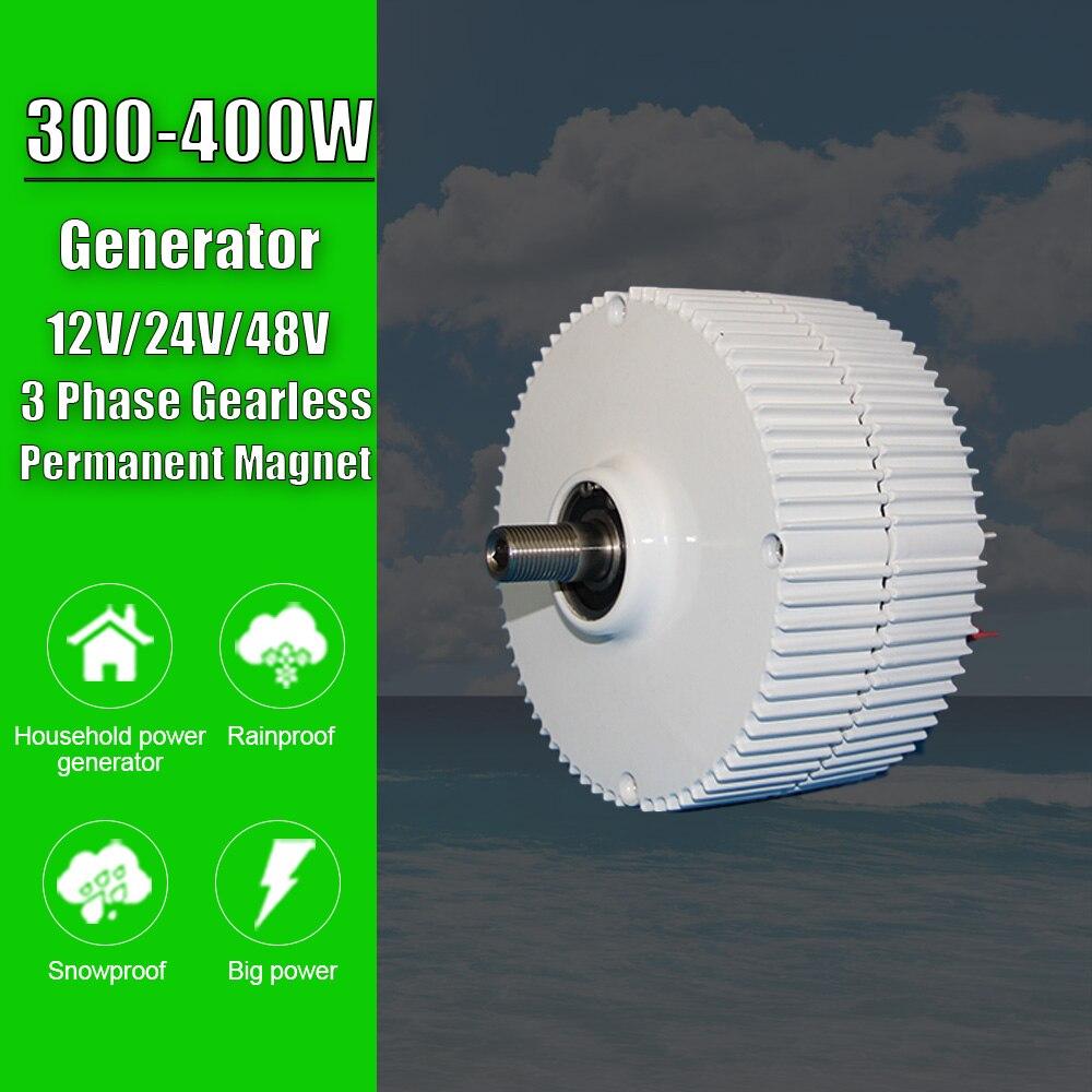 Generador de imán permanente sin engranajes, alternadores de CA para turbina eólica, molino de viento, 3 fases, 300W, 400W, 12V, 24V, 48V, almacén en ES,RU