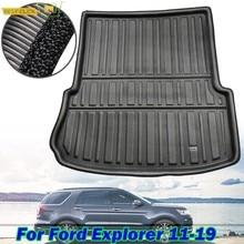Alfombra impermeable para maletero de Ford Explorer, estera de revestimiento de carga trasera, bandeja para el suelo, para Ford Explorer 2011-2019, 2012, 2013, 2014, 2015, 2016, 2017, 2018
