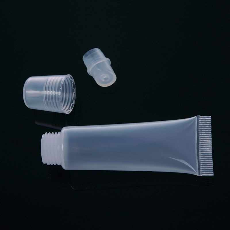 10 sztuk 8ml torba podróżna puste tubki balsam do ust balsam jasne pojemniki kosmetyczne narzędzia akcesoria