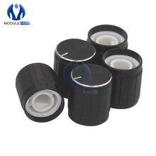 10PCS Aluminium Legierung Halbe Welle Loch Caps Für KY-040 360 Grad Rotary Encoder Modul Für Arduino Brick Sensor Schalter