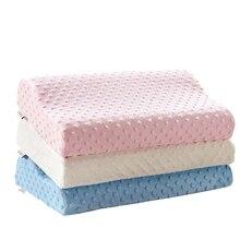 Almohada para dormir, sofá, almohada de espuma de memoria, Color sólido, almohada ortopédica supersuave para el cuello BE47001