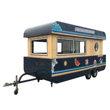 3.2m 4.2m Quick Meals Truck Trailer Boat Form Espresso Bike For Snack Meals Scorching Canine Cart Ice Cream Kiosk