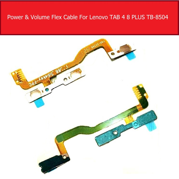 Volume & Power Button For Lenovo Tab 4 8 Plus TB-8504X TB-8504 TB-8504P ZA2B0050RU P3588 Switch On/off Power Control Flex Cable