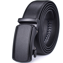 Cinturón de trinquete para hombre, cinturones de vestir de cuero con hebilla automática