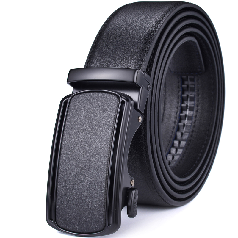 Ratchet Belt For Men Leather Dress Belts With Automatic Buckle