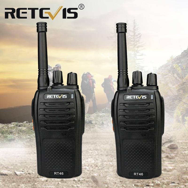 RETEVIS RT46 Walkie Talkie 2Pcs Portable Walkie-Talkie Radio Stations PMR446 UHF Stations USB Charging  Li-ion Or AAA Battery