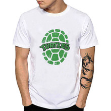 Japan Anime Mutant Ninja Men T-Shirt Green Turtles Foot Clan Hamato Yoshi Splinter Short-sleeves Tee Tops Shredder Shirt YH045(China)