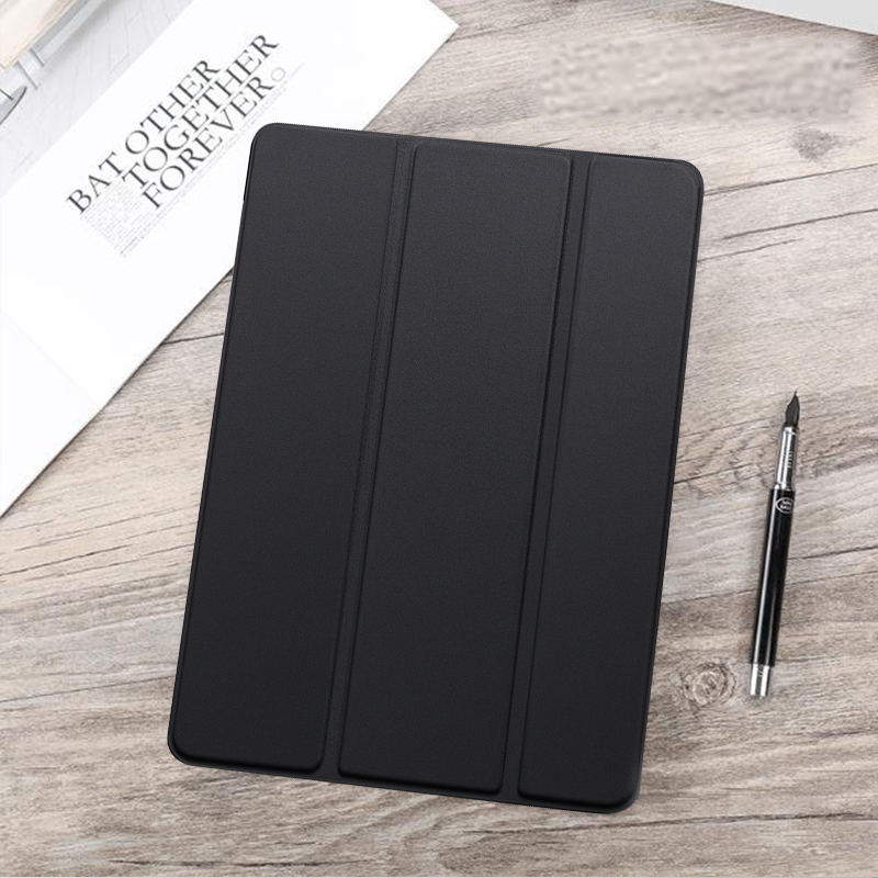 Black Black Funda For iPad Air 4 2020 10 9 PU Leather Trifold Stand Case For iPad Air4