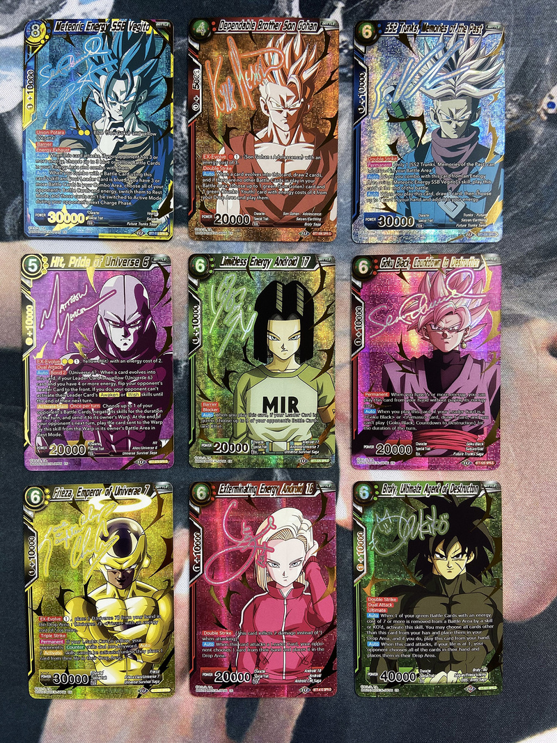 9pcs/set Dragon Ball Super American Edition Signature Card Super Saiyan Goku Vegeta Game Collection Cards Limit