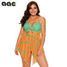 2020 New Swimsuit Women Tankini Plus Size Swimwear Two Piece Swimsuit Push Up Bikini Set Halter Tankini Bathing Suits Beach Wear tropical pineapple plus size surplice tankini set