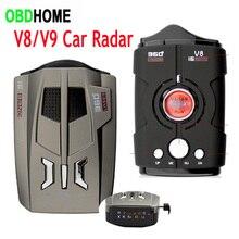 V9/V8 LED Car Radar Detector Electronic Dog 16 Bands Voice Alert Warning Auto Mobile Speed Flow Velocity Radar Signal Detection