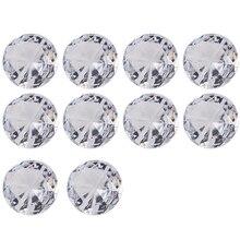 10/20 штук Настольный держатель для карт Прозрачный кристаллический алмаз Форма акриловые бусины для свадеб держатель для карт сообщение зажим