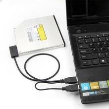SATA USB 2.0 adaptör kablosu dizüstü optik sürücü hattı 6 + 7P kolay sürücü hattı Laptop DVD/CD ROM ince sürücü