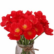 1pcs Artificial Flower Poppy Wedding Bouquet Living Room Table Photography Decoration Valentine Day Everlasting