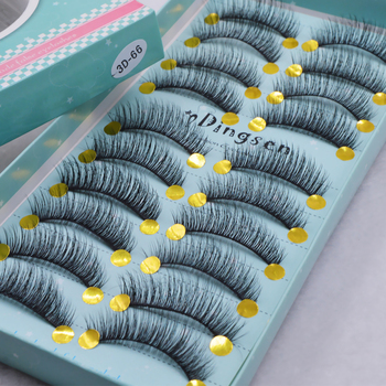 10 pairs natural false eyelashes fake lashes long makeup 3d mink lashes eyelash extension mink eyelashes for beauty 3D66-71