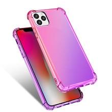 Funda de teléfono para Iphone 11 Pro Max Color degradado carcasa de teléfono cuatro esquinas Anti-caída ultrafina cubierta protectora de moda ultrafina