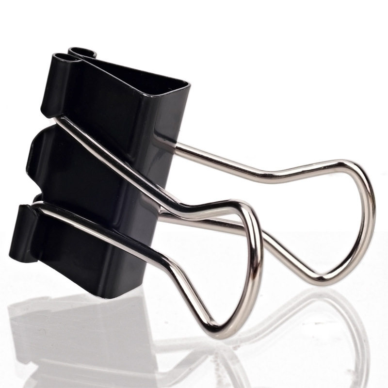 Deli Black And White With Pattern Binder Clip 9544 Wide 25mm4 No. 12 PCs Per Box Fen Lei Jia Metal Zhang Piao Jia 04020023