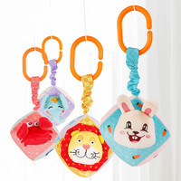 Baby Stereo Square Cloth Ball Service Bell Baby Plush Early Education Toy Toddler Toys Soft Stuffed Cartoon Rattles Mobiles Toys