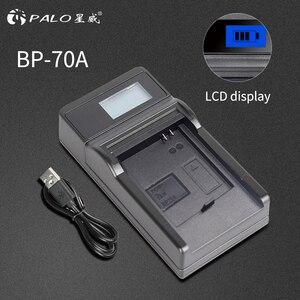 Image 2 - PALO cargador de batería para cámara con pantalla LCD, para Samsung BP 70A, bp 70a, bp70a, BP70a, PL120, PL121, PL170, PL171, PL200, ST76