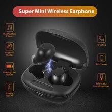 Мини беспроводные наушники V5.0 Bluetooth наушники 3D стерео беспроводные наушники Спортивная гарнитура с двумя микрофонами для всех мобильных телефонов