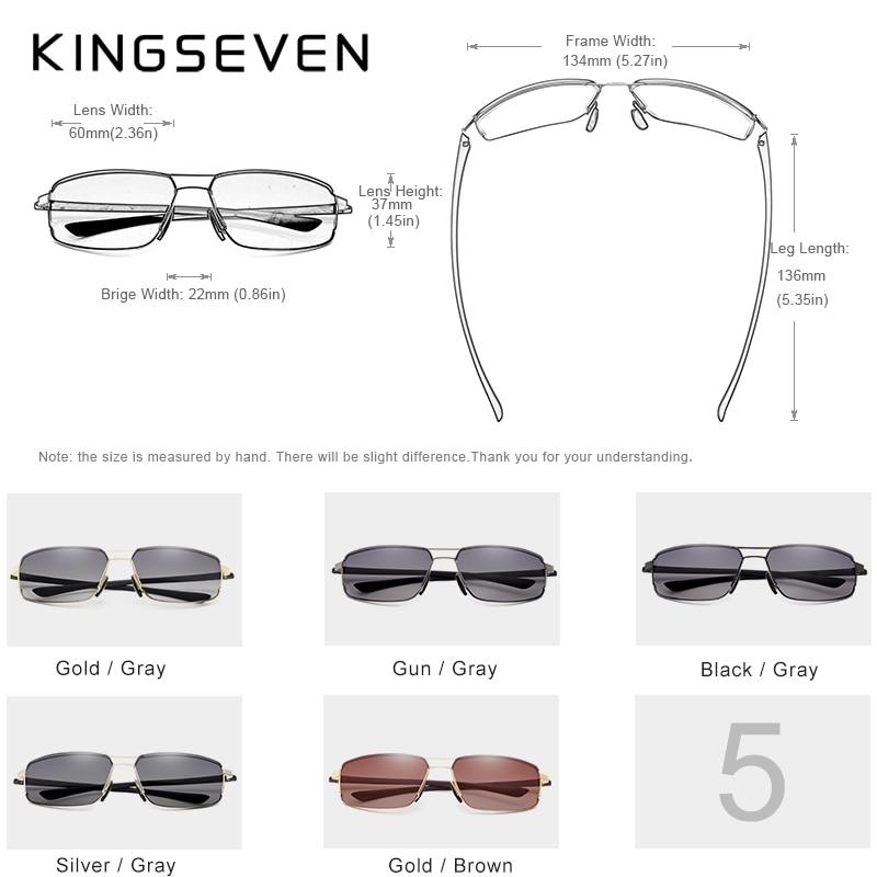 KINGSEVEN Brand Design Sunglasses Men Driving Square Frame Sun Glasses Male Classic Unisex Goggles Eyewear Gafas 5
