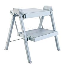 Concealed Stool Ladder Two-Step-Pedal Folding And Household Cabinet Hanging Picking Dual-Use