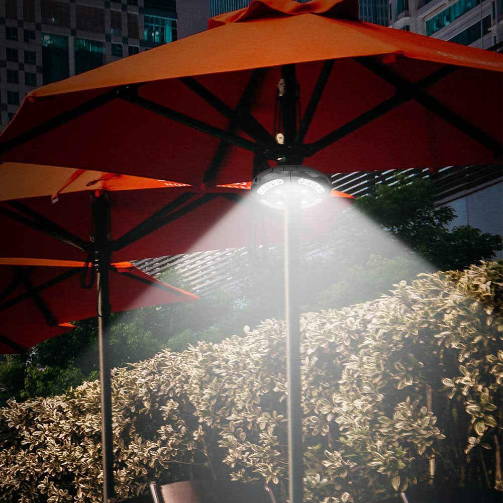 Патио зонтик огни на батарейках 24 светодиода беспроводной с пультом дистанционного управления для кемпинга палатки лад-продажа