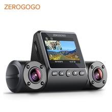 ZEROGOGO R2 Dual Lens Dash Camera Dual 1080P Dash Cam Full HD Car DVR Video Camera Super Night Vision Parking Mode Capacitor WDR