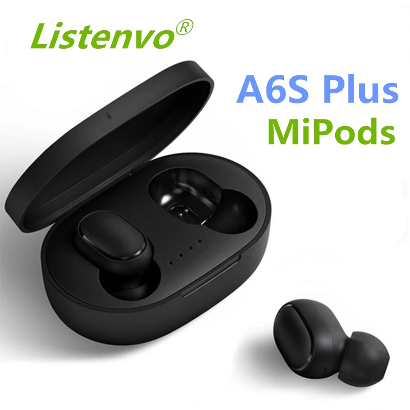 Новинка A6S беспроводные наушники Bluetooth 5,0 TWS для Xiaomi Redmi Airdots гарнитура с шумоподавлением наушники для Huawei SamgSung iPhone
