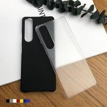 Para sony xperia 1 10 iii 5 ii xz5 xa4 anti-impressão digital ultra-fino suave fosco caso para pc capa protetora de volta dura