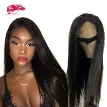 """13X4/13x6 prosto koronkowa peruka na przód dla kobiet Natural Black 8 """"do 26"""" Ali Queen Virgin Remy peruki z ludzkich włosów 360 koronkowa peruka z przodu"""