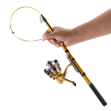 2.1M Carbon Fiber Telescopic Fishing pole Portable Spinning FRP Rod fishing