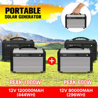 600W/1000W LCD Solar Power Storage Generator Inverter Outdoor UPS Pure Sine Wave Power Supply USB Energy Storage 80000/120000mAh