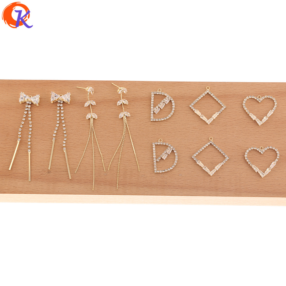 Cordial Design 50Pcs Jewelry Accessories/DIY Charms/Rhinestone Claw Chain/Connectors For Earrings/Hand Made/Earring Findings