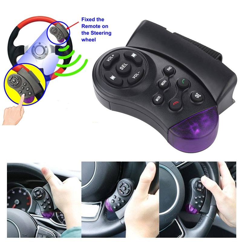 Vehemo Universal Steering Wheel Wireless Remote Control For 7