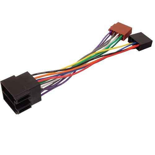 CABLEPELADO Cable de Audio ISO Compatible con Ford 0.15 M 0.15 M Negro