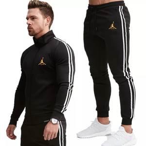 Pants Suit Clothing-Set Hoodies Jogger Sport-Wear Jordan Bodybuilding Gyms Fitness Men
