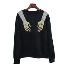 Fashion T-shirt Women Casual Long Sleeve Pullover Top Autumn Black Halloween Special Design Female Tops Tees Clothing
