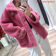 Real Fur Coat Women Female Thick Warm Sheep Shearling