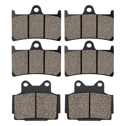 Cyleto Motorcycle Front and Rear Brake Pads for YAMAHA TZR250 TZR250R 1989-1994 FZS600 Fazer 600 1998-2003 FZR400 RR TZR125 R