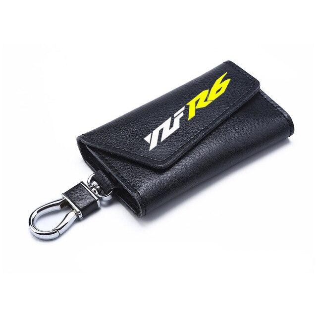 Porte-clés 3D en peau de vache porte-clés chaîne Collection porte-clés pour Yamaha YZF R6 Logo moto Badge porte-clés