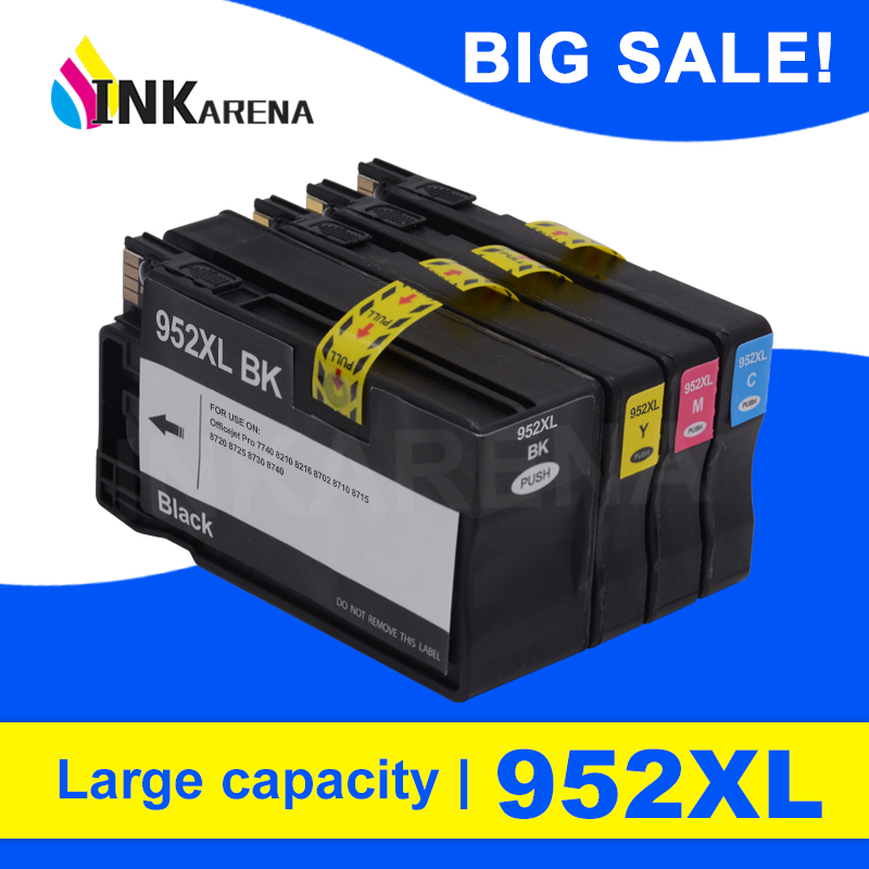 <font><b>952XL</b></font> Printer Ink Cartridge For HP Officejet Pro 7740 8210 8218 8710 8715 8718 8719 8720 8725 8728 8730 8740 Ink Cartridge 952 image