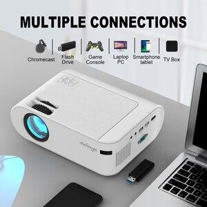 Image 2 - Salange P62 Mini Projector Voor Films Thuis, ondersteuning 1080P Full Hd Projetor Outdoor Theater 2800 Lumen Proyector Video Beamer
