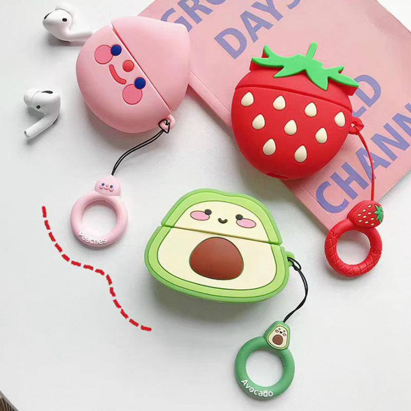 3D Cartoon Earphone Case For Huawei Freebuds 3 Case Silicone Cute Avocado Dog Cover For Huawei Freebuds 3 Pro Case With Keychain