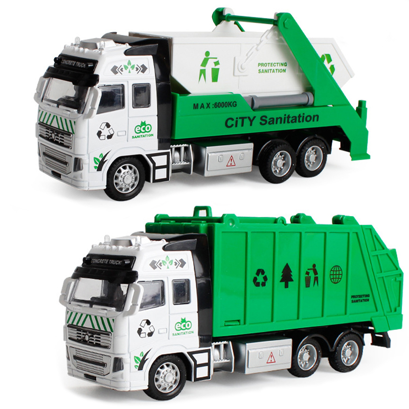 Garbage Truck High Quality Toy Car As Birthday Present Juguete Educational Clean Trash Car Kids Toys Gifts 1:32